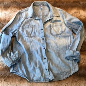 Xhilaration  NWOT Chambray Top